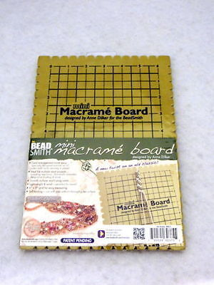 "The Beadsmith Small Macrame Board 6"" x 9"" Grid - Jewellery Making Tools Supplies"