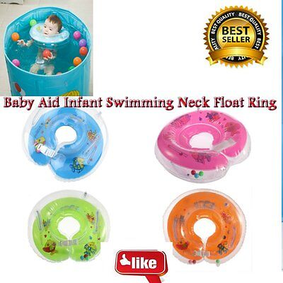 New Baby Aids Infant Swimming Neck Float Ring Safety Adjustable Inflatable BE