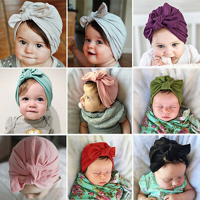 Newborn Baby Soft Warm Hat Toddler Kids Cotton Beanie Boys Girls Bow Knot Cap