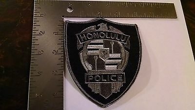 Honolulu Hawaii Black Subdued Tactical Police Patch Patches