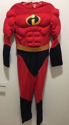 The Disney Incredibles Deluxe Muscle Halloween Costume, Child Size Small