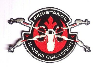 "Star Wars Force Awakens 6"" X-Wing Squadron Resistance Patch-FREE S&H(SWPA-FA-11)"