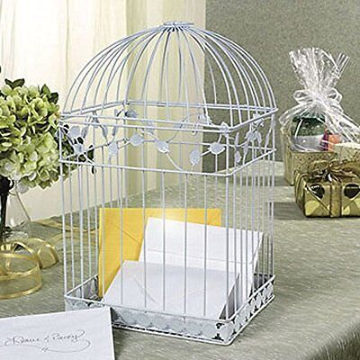 White Birdcage Wedding Gift Card Holder Wishing Well Boxes Showers Cage Fun Expr