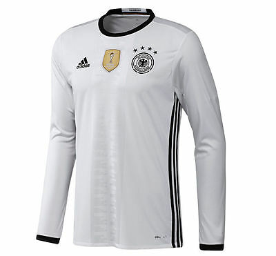 1722d0131 ADIDAS GERMANY EURO 2016 THOMAS MULLER LONG SLEEVE HOME JERSEY White ...