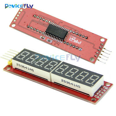 MAX7219 8-Digit LED Display 7 Segment Modul Digital Tube Arduino SPI Control Red