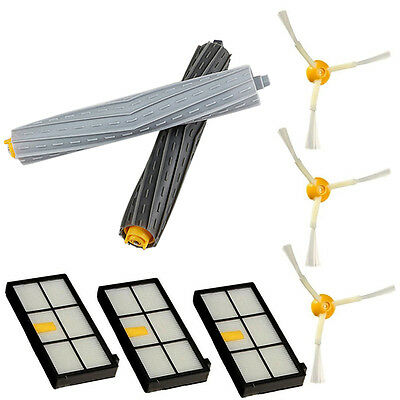 Filters Brushes Extractor Replenishment Kit For iRobot Roomba 800 900 Series