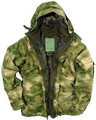 US Cold Wet Weather Nässeschutz Parka A mit  Fleece Jacke MILTACS FG Camo  XXL