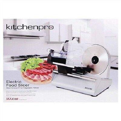 NEW 200W Maxim Kitchenpro Kitchen Meat Cheese Fruit Bread Electric Food Slicer
