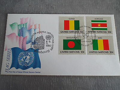 FDC ONU - UNO New York (USA) 26/09/1980 : Drapeaux