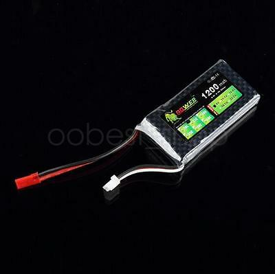 Lipo Li-Poly 7.4V 1200mAh 25C-35C 2S Lipo Battery JST Connector RC Helicopter