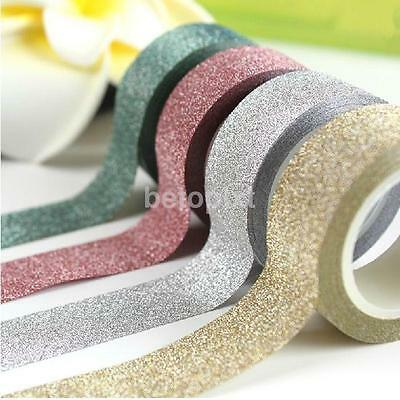 5M DIY Self-adhesive Glitter Paper Tape Sticker Wedding Birthday Festival Decor