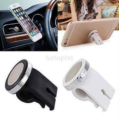 360° Rotating Car Air Vent Phone Holder Mount Stand Magnetic for Cell Phone GPS