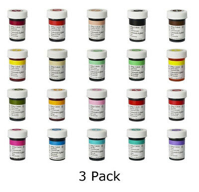 Wilton Icing Color Concentrate Paste Gel for Cup Cake Food Decorating Baking x 3