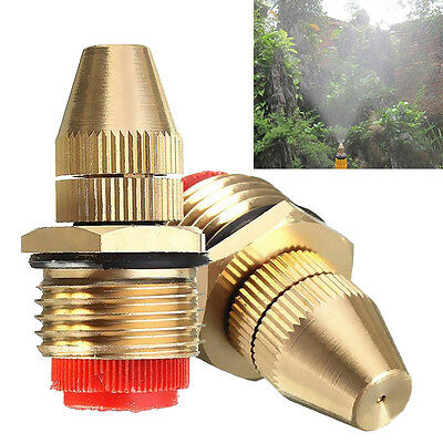 New Fashion Adjustable 1/2 Inch Brass Water Spray Nozzle Lawn Atomizing Nozzle