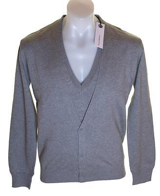 Neuf - Authentique Homme Full Circle Pull Col V Pull Cardigan Gris Neuf  Butta 01c0c733835