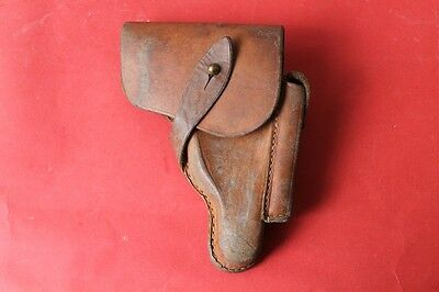 Original Wwii German Or Bulgarian Brown Leather Pistol Holster For Walther Ppk
