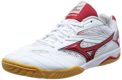 NEW MIZUNO TABLE TENNIS SHOES WAVE DRIVE 7 WHITE/RED from JAPAN
