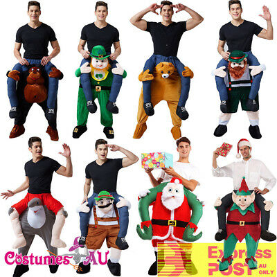 Mens Shoulder Carry On Piggy Back Ride Me Fancy Dress Adult Party Costume Mascot
