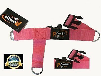 PINK 3 D Ankle Foot Shoe Strap 3 -Ring Cable Gym Machine Attachment Yoga Pilates