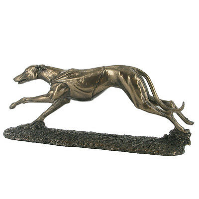 Greyhound / Whippet Racing Dog Cold Cast Bronze Sculpture / Figurine.New & Boxed