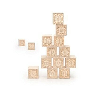 Uncle Goose Lowercase Alphablank Blocks - Made in USA