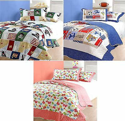 Childrens Bedding Quilted Bedspread / Comforter Throws Single Bed
