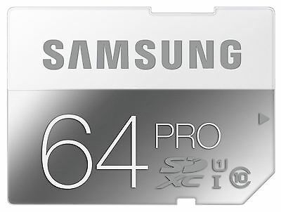 Samsung PRO 64GB SDHC Memory Card Class 10 90MB/s HD SD Card New