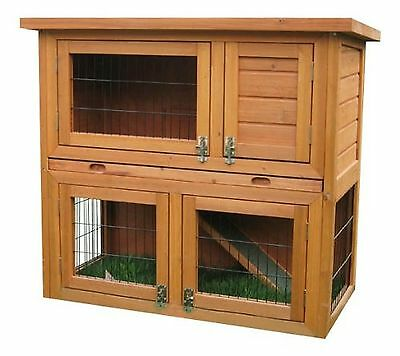 Bunny Business 2-Tier Double Decker Rabbit/ Guinea Pig Hutch with Sliding Tray