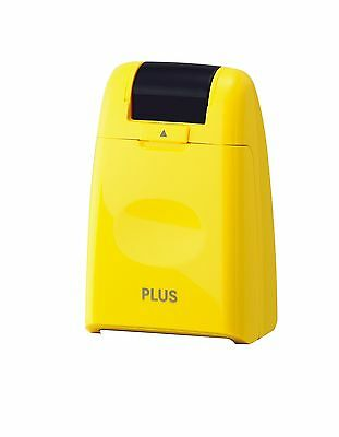 PLUS Japan Guard-Your-ID Camouflage Roller Stamp Yellow