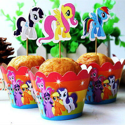 Little Pony Cupcake Wrapper And Topper Picks Wedding Kid Birthday Decoration