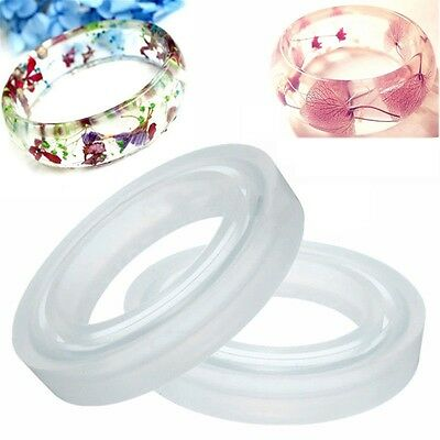 1pc DIY Round Silicone Resin Bangle Bracelet Jewelry Making Craft Moulds 58/60mm