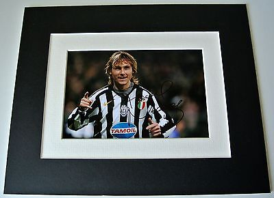Pavel Nedved Signed Autograph 10x8 photo mount display Juventus Football & COA