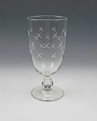Libbey Glass STARDUST-GRAY CUT Iced Tea Glass(es) Excellent