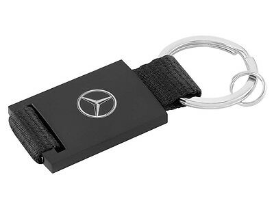Genuine Mercedes-Benz Black Faux Leather Keyring ZB66956287 NEW
