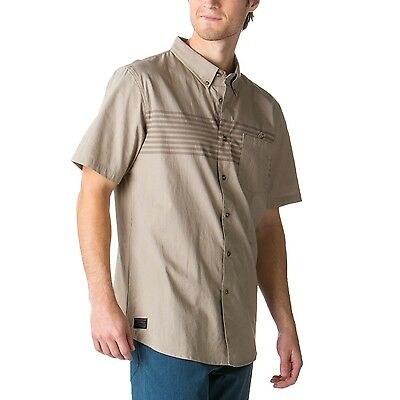 Men's Oakley Romeo S/S Woven Button Up Down Casual Shirt New Khaki Size Small S