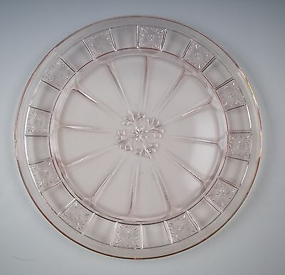 Jeannette Glass DORIC-PINK Dinner Plate(s) VERY GOOD