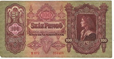 1930 Hungary 100 Pengo Circulated Bank Note Pick-112!!