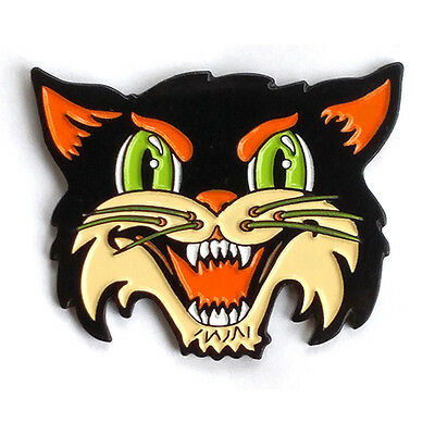 Halloween Cat enamel pin- black cat, decoration, spoopy, goth