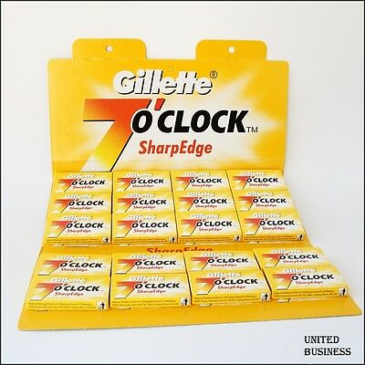 100 Gillette 7 o'Clock Sharp Edge Double Edge Razor Blades For £9.79