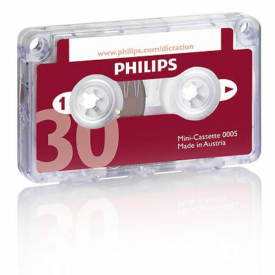 Philips Mini Cassette Tape 30 Minutes Record for Pocket Memo Recorders/Dictation