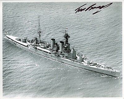 WW2 Royal Navy battleship HMS Hood signed photo