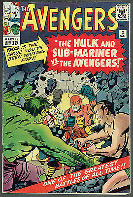 AVENGERS 3  FN-/5.5  - 2nd Sub-Mariner x-over outside FF4