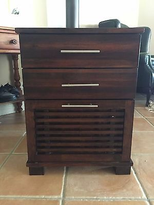Filing Cabinet - Dark Wood - suspension files included