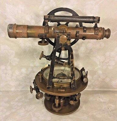 Antique Surveyor Transit F Weber & Co Philadelphia PA Brass No Tripod or Case