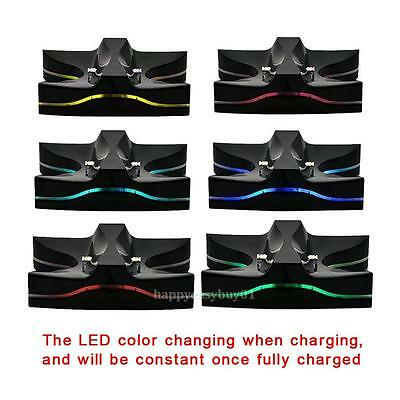 Colorful LED USB Charger Dock Station for Sony Playstation 4 PS4 Controller