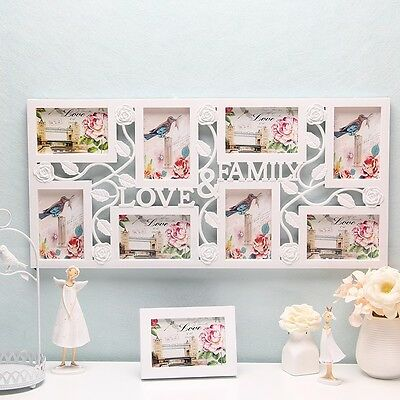 Family Love Large Multi 8 Picture Wall Hanging Collage Photo Frame Wall Decor