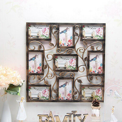 Bronze Color Wall Hanging Collage Photo Frame Picture Display Wedding Decor Gift