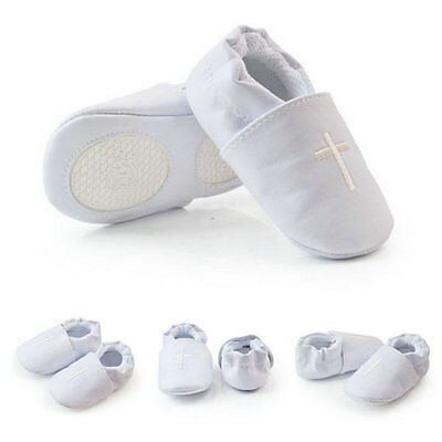 Baby Boy Girl Cross Baptism Christening Shoes Church Soft Sole Leather Shoes Hot
