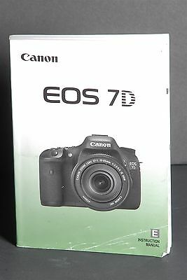 Canon Genuine EOS 7D Camera Instruction Book / Manual / User Guide