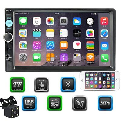 """2Din 7"""" Car FM Audio Stereo MP5 Player USB Bluetooth Touch Screen + Backup Cam"""